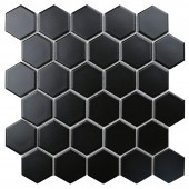 Hexagon small Black Matt 272х282