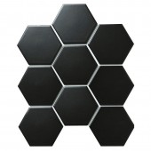 Hexagon big Black Matt 256х295